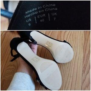 Aldo Shoes - New!! ALDO Black Suede Embroidery High Heels 9